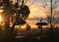 coucher de soleil sur les marais