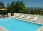 piscine chauffée sécurisée avec vue
